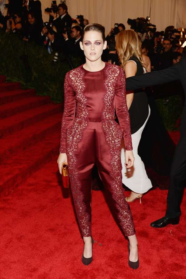 "NEW YORK, NY - MAY 06:  Kristen Stewart attends the Costume Institute Gala for the ""PUNK: Chaos to Couture"" exhibition at the Metropolitan Museum of Art on May 6, 2013 in New York City.  (Photo by Dimitrios Kambouris/Getty Images)"