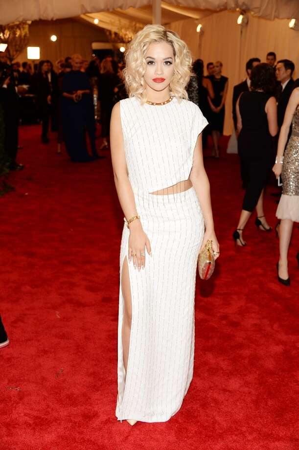 "NEW YORK, NY - MAY 06:  Rita Ora attends the Costume Institute Gala for the ""PUNK: Chaos to Couture"" exhibition at the Metropolitan Museum of Art on May 6, 2013 in New York City.  (Photo by Dimitrios Kambouris/Getty Images)"