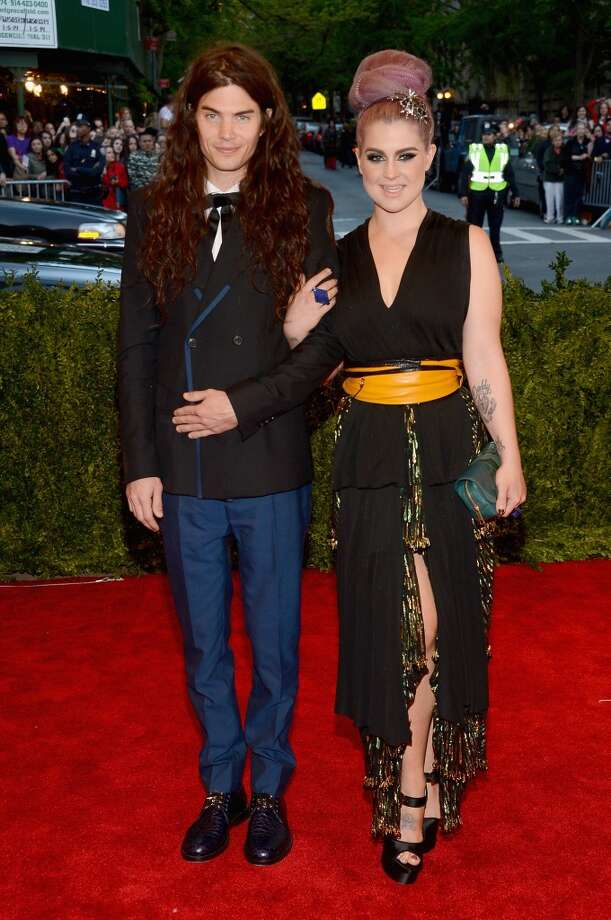 "NEW YORK, NY - MAY 06:  Matthew Mosshart and Kelly Osbourne attend the Costume Institute Gala for the ""PUNK: Chaos to Couture"" exhibition at the Metropolitan Museum of Art on May 6, 2013 in New York City.  (Photo by Larry Busacca/Getty Images)"