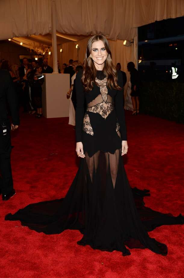 "NEW YORK, NY - MAY 06:  Allison Williams attends the Costume Institute Gala for the ""PUNK: Chaos to Couture"" exhibition at the Metropolitan Museum of Art on May 6, 2013 in New York City.  (Photo by Dimitrios Kambouris/Getty Images)"