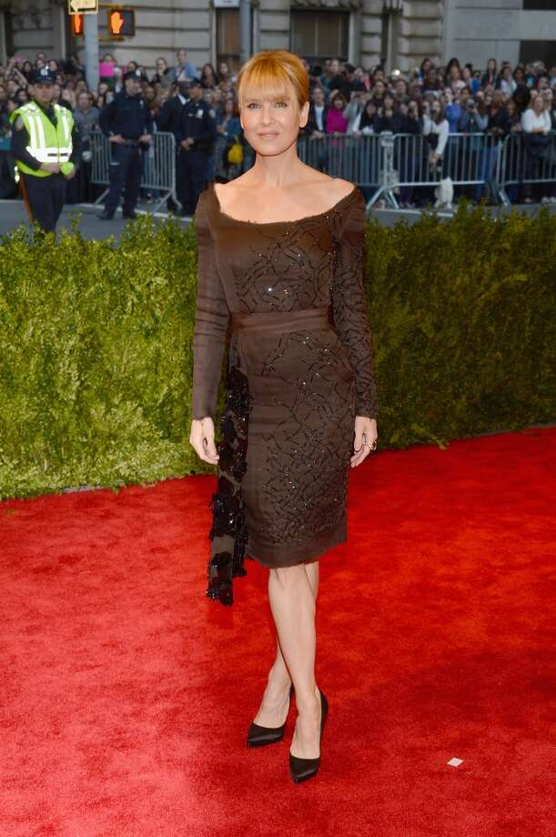 """NEW YORK, NY - MAY 06:  Renee Zellweger attends the Costume Institute Gala for the """"PUNK: Chaos to Couture"""" exhibition at the Metropolitan Museum of Art on May 6, 2013 in New York City.  (Photo by Larry Busacca/Getty Images)"""