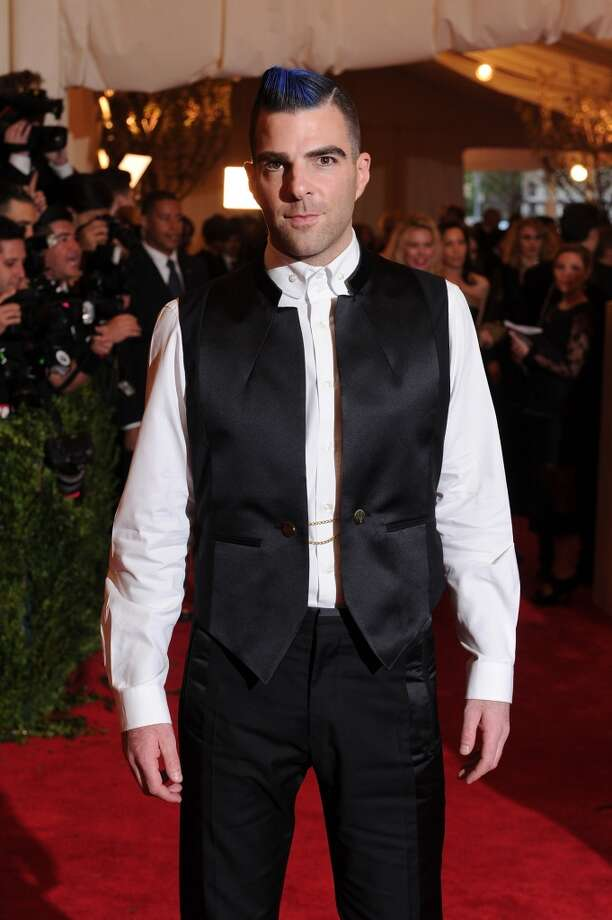 "NEW YORK, NY - MAY 06:  Zachary Quinto attends the Costume Institute Gala for the ""PUNK: Chaos to Couture"" exhibition at the Metropolitan Museum of Art on May 6, 2013 in New York City.  (Photo by Dimitrios Kambouris/Getty Images)"