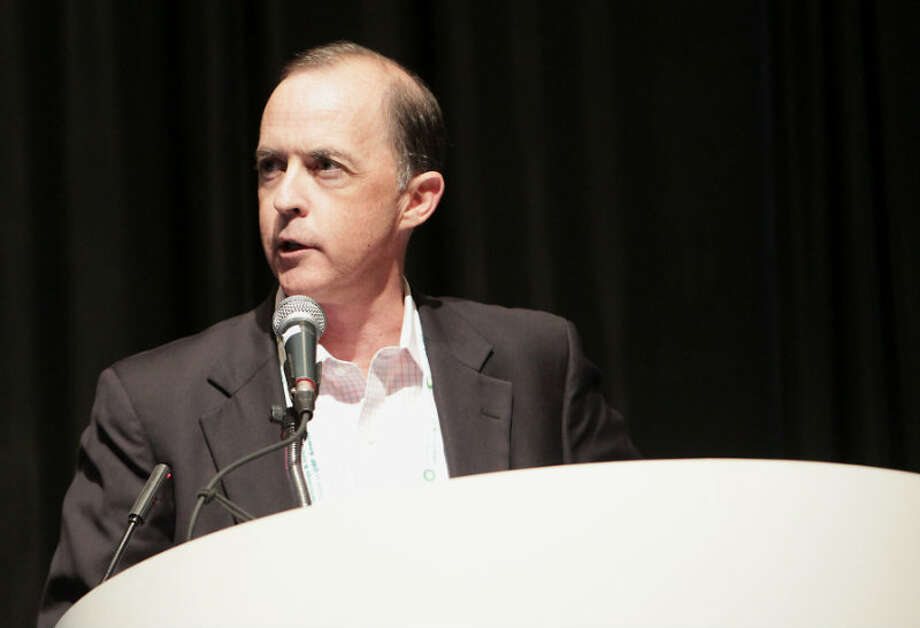 GasTran Systems Matthew Brinn speaks during the Adaptive Thinking to Create New Opportunities session OTC 2013 at Reliant Park Monday, May 6, 2013, in Houston. ( James Nielsen / Houston Chronicle )