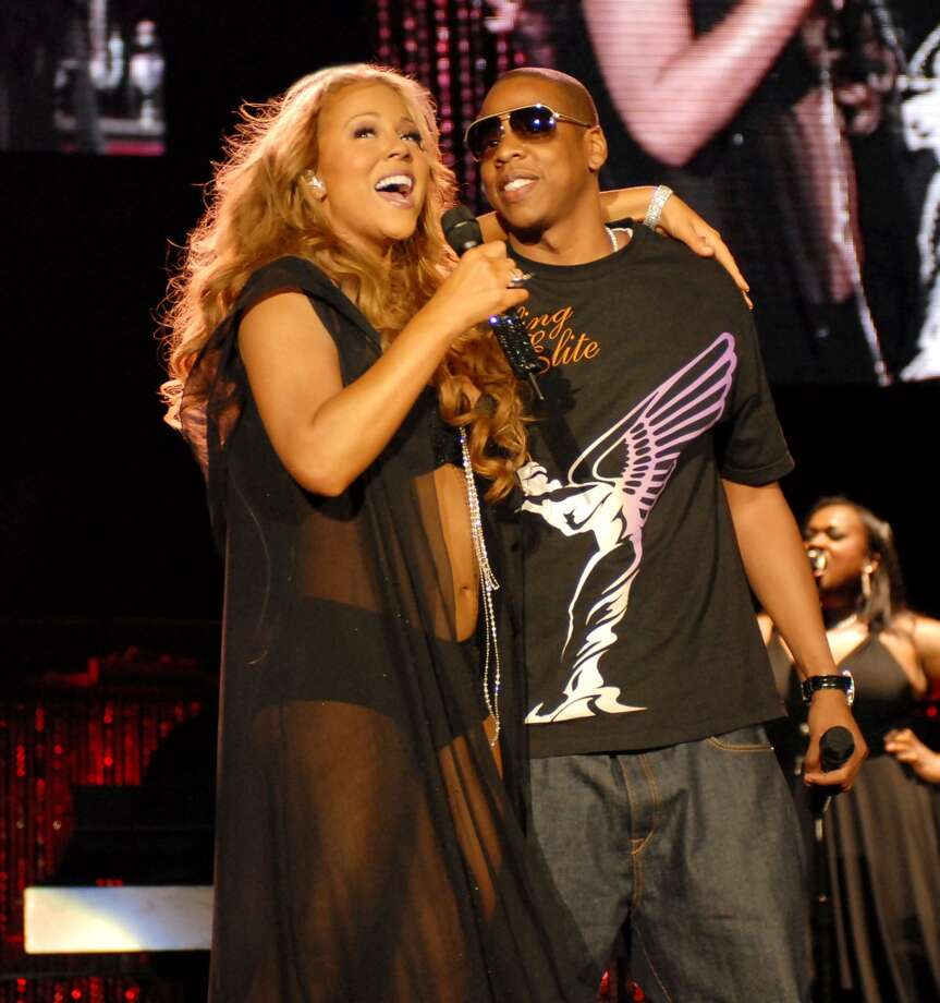 Mariah Carey shares the spotlight Jay-Z on her Adventures of Mimi tour.