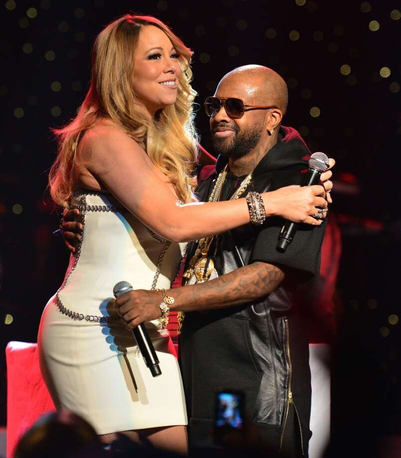 Mariah Carey and Jermain Dupri take part in the So So Def 20th anniversary concert in February.