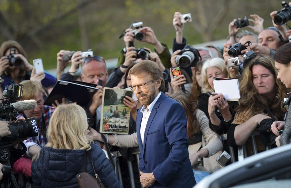 Bjorn Ulvaeus, former member of legendary Swedish pop group ABBA, arrives for the inauguration of ABBA The Museum at the Swedish Music Hall of Fame in Stockholm. ABBA's collected works will be showcased at the new exhibit venue.