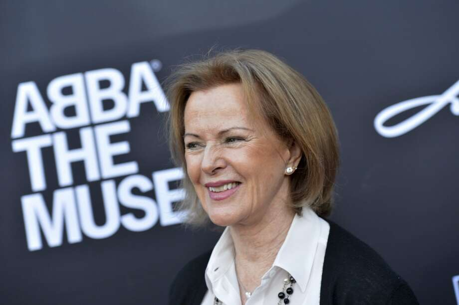 Annifrid Reuss-Lyngstad, former member of ABBA, arrives for the inauguration of  ABBA The Museum.