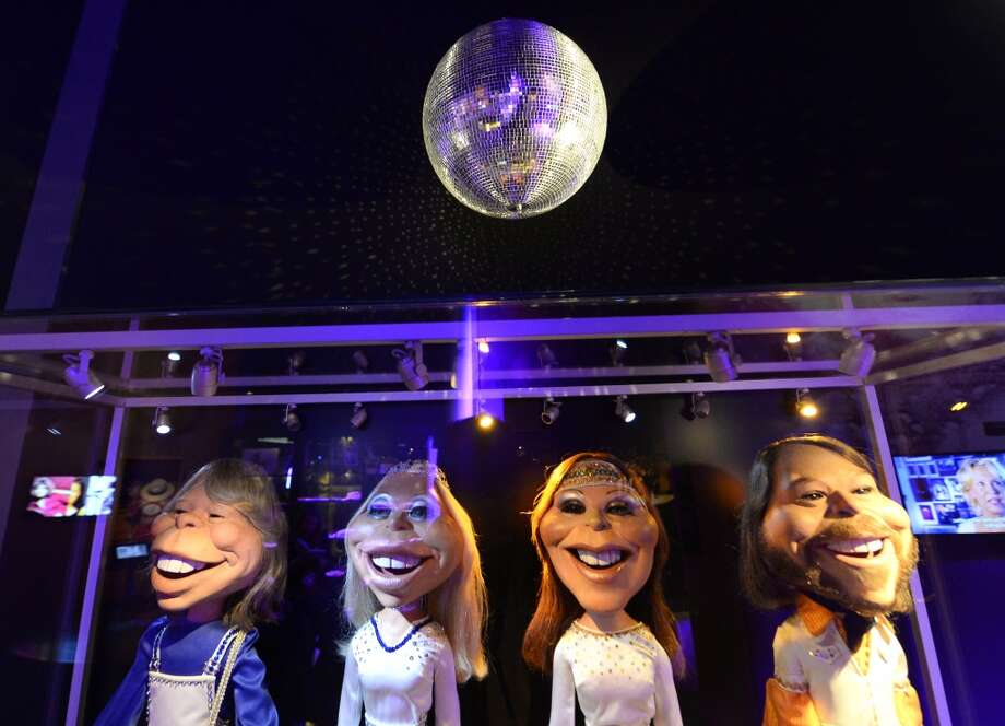 Puppets featuring ABBA members are just some of the memorabilia found at the museum.