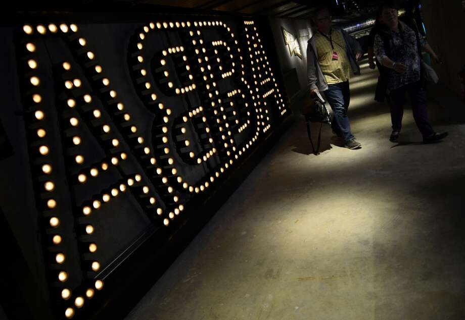Journalists attend the press viewing of world's first permanent ABBA museum, on May 6, 2013, in Stockholm, on the eve of the official opening. The group dominated the 1970s disco scene with their catchy melodies and kitsch dance routines.