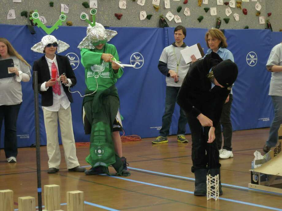 """The Middlesex Middle School Odyssey of the Mind """"Tumblewood"""" team placed second in the state tournament and now will compete in the World Finals in Michigan at the end of the month. Photo: Contributed"""
