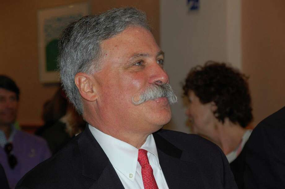 Chase Carey of New Canaan, president and chief operating officer of News Corporation, gave a talk before the hometown audience on Sunday, May 5, at the New Canaan Public Library. Carey said when he usually spoke it was before Wall Street executives who wanted to know about profit numbers, and that this was a welcome change. Jarret Liotta/For the New Canaan News Photo: Contributed