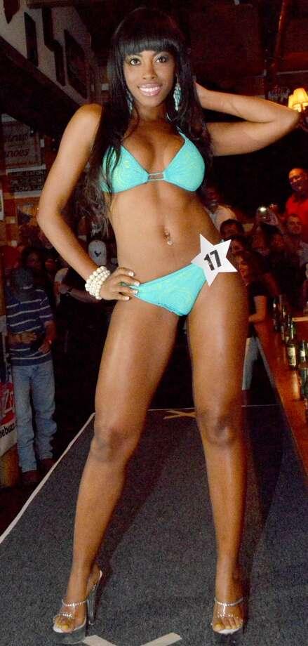 A contestant models.