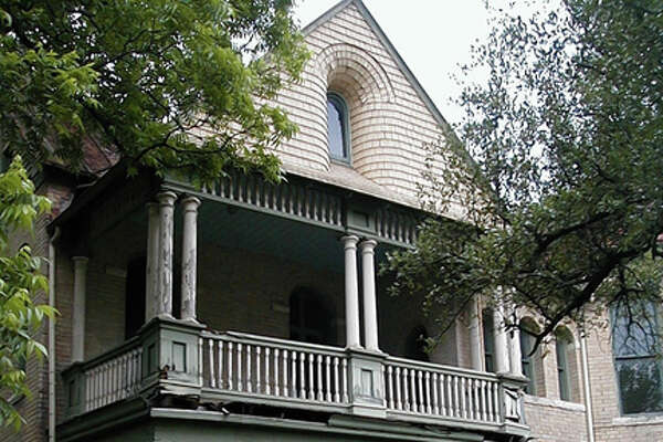 The porch of this house at 234 HemisFair was restored using a grant by the San Antonio Conservation Society.