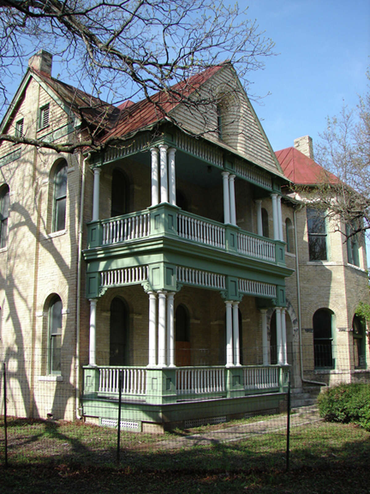 A look at the porch after restoration.