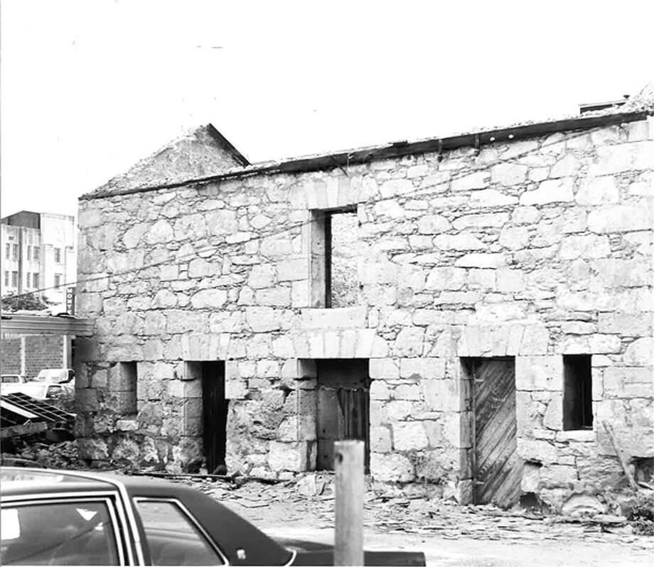 In 1982, the Stuemke Barn was moved from 215 N. Flores St. to 107 King William after the Conservation Society acquired the building. Photo: COURTESY OF SAN ANTONIO CONSERVATION SOCIETY