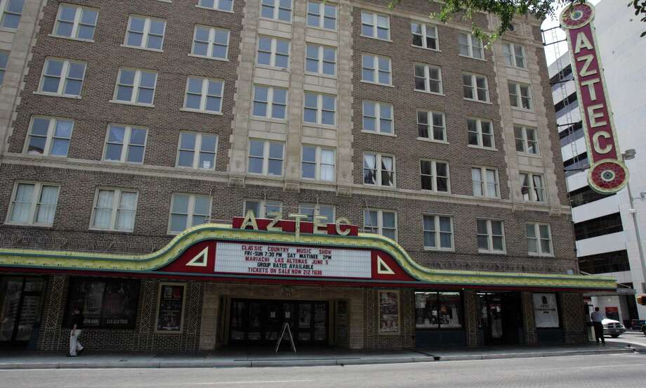 In 1992, the Aztec Theater was listed on the National Register of Historic Places. Photo: EXPRESS-NEWS FILE PHOTO, San Antonio Express-News / SAN ANTONIO EXPRESS-NEWS