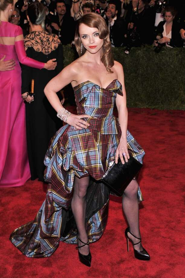 Good: Christina Ricci nails it for this event. Funky dress, great color, nice take on tartan. The dress fits her well, and she's rocking the look.