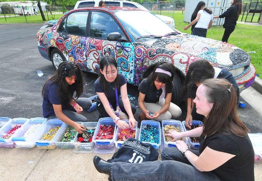 Students from the Parish School built the Fire Truck art car. Photo: Â Tony Bullard 2013, Freelance Photographer / © Tony Bullard & the Houston Chronicle