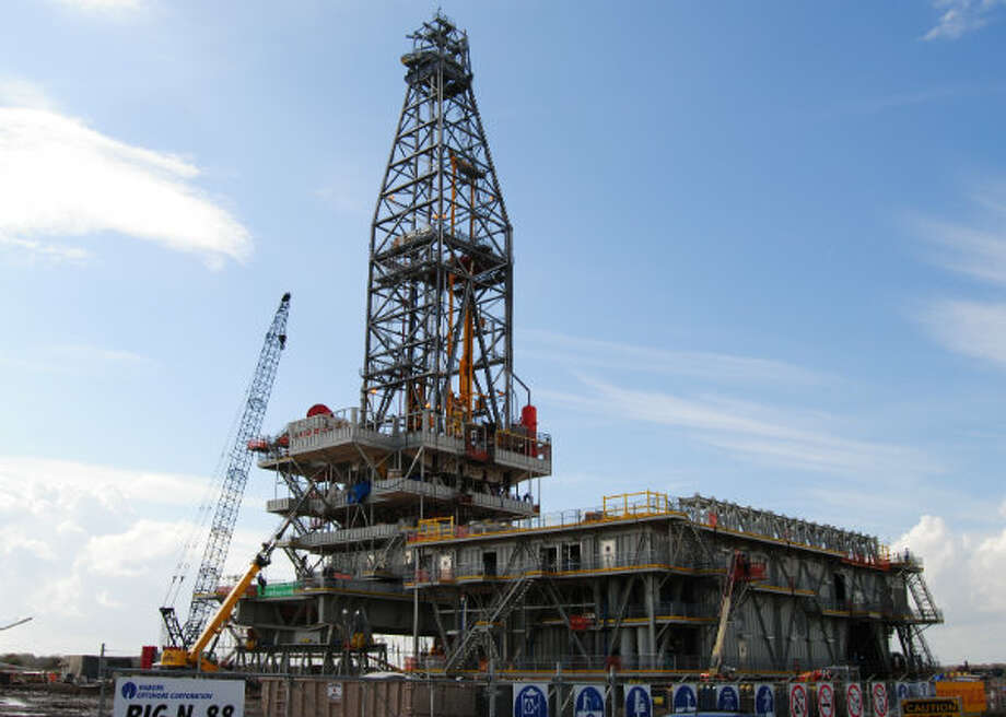 Shell's Olympus drilling rig was constructed at the Lonestar Energy Fabrication yard in Baytown, Texas. Photo: Lonestar Energy Fabrication
