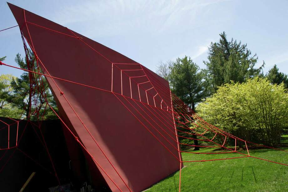 """E.V. Day's installation, """"SNAP!"""", at Da Monsta building at The Glass House in New Canaan on Tuesday, April 30, 2013. Photo: Lindsay Perry / Stamford Advocate"""