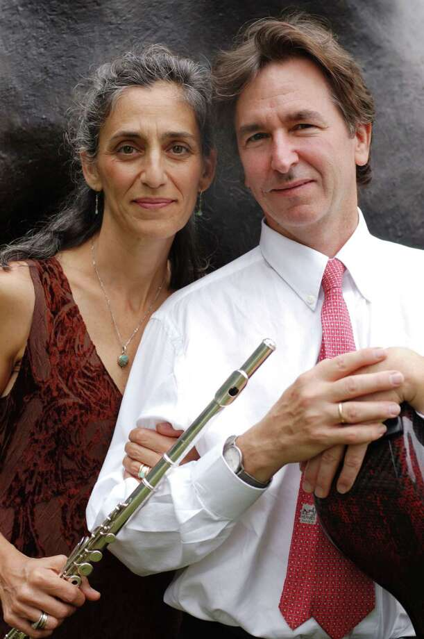 Sherman Chamber Ensemble flutist Susan Rotholz and cellist Eliot Bailen, shown here, will be joined by pianist Margaret Kampmeier and violinist Carmit Zori in a concert Saturday, May 11 in Sherman, and Sunday, May 12, in New Milford. Photo: Contributed Photo