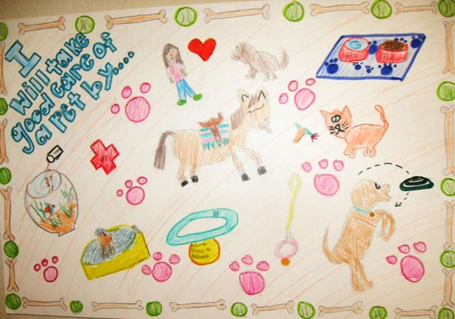 """I will take care of my pet by...""  Fourth Grade, 1st Place, Morgan M., Los Reyes Elementary School"