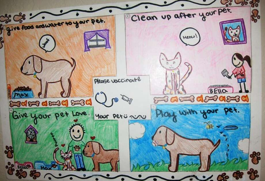 """""""I will take care of my pet by...""""  Fifth Grade, 1st Place, Mia P., Los Reyes Elementary School"""