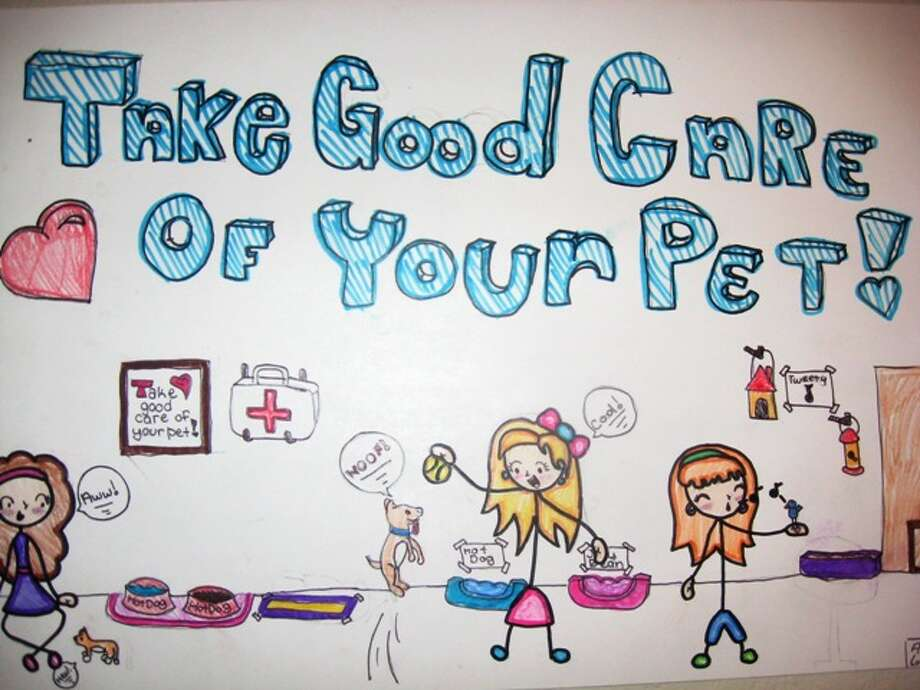 """I will take care of my pet by...""  Fifth Grade, Third Place, Andrew L., Los Reyes Elementary School"