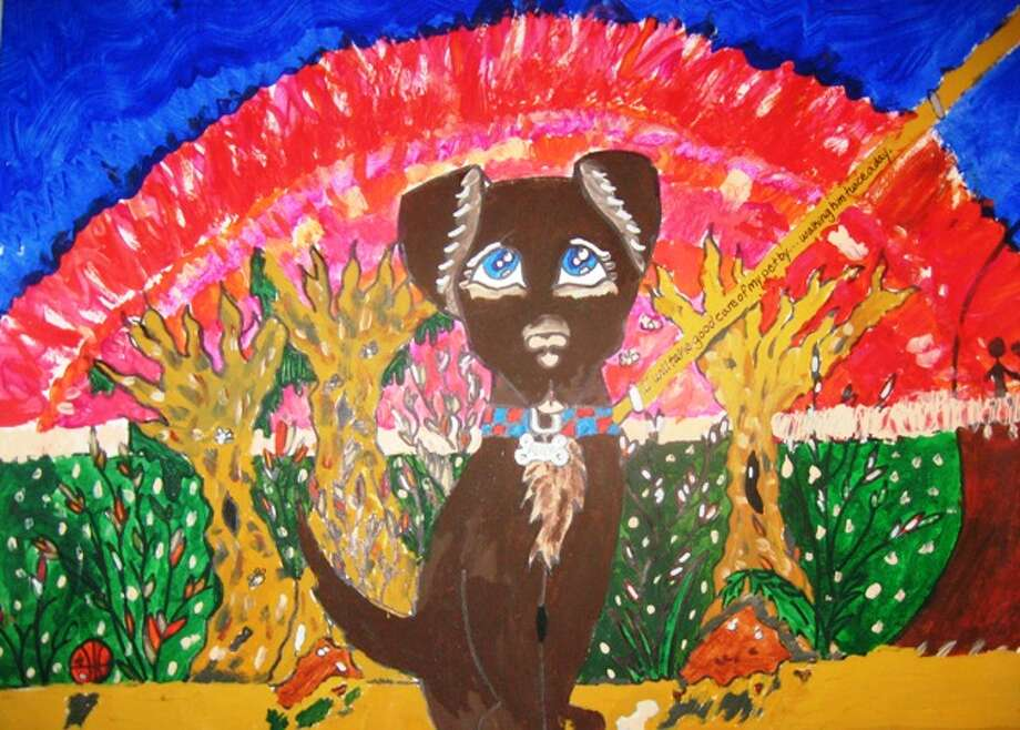 """I will take care of my pet by...""  Fifth Grade, Honorable Mention, Zake B., Charles Beard Elementary School"