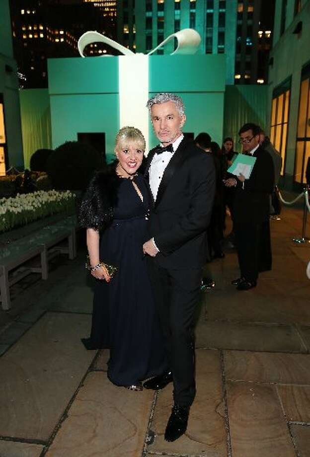 Baz Luhrmann and wife Catherine Martin at the Tiffany Blue Book Ball April 18 at Rockefeller Center.