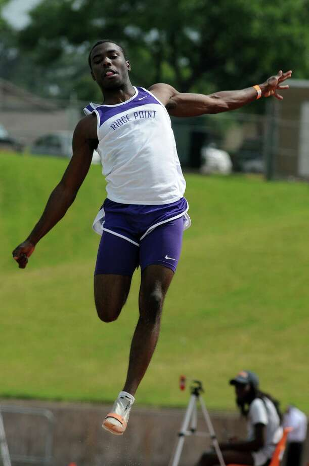 Ridge Point's Cameron Burrell will compete in the 100-meters and long jump at the UIL Class 4A state meet this weekend. Photo: Jerry Baker, Freelance