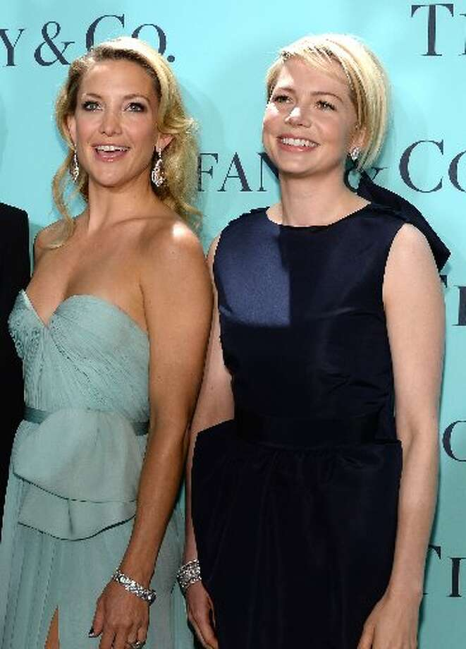Shades of blue: Kate Hudson and Michelle Williams