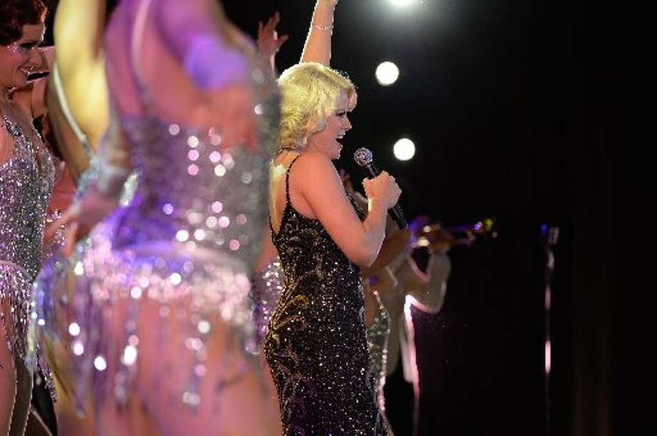 Megan Hilty performs at the ball.