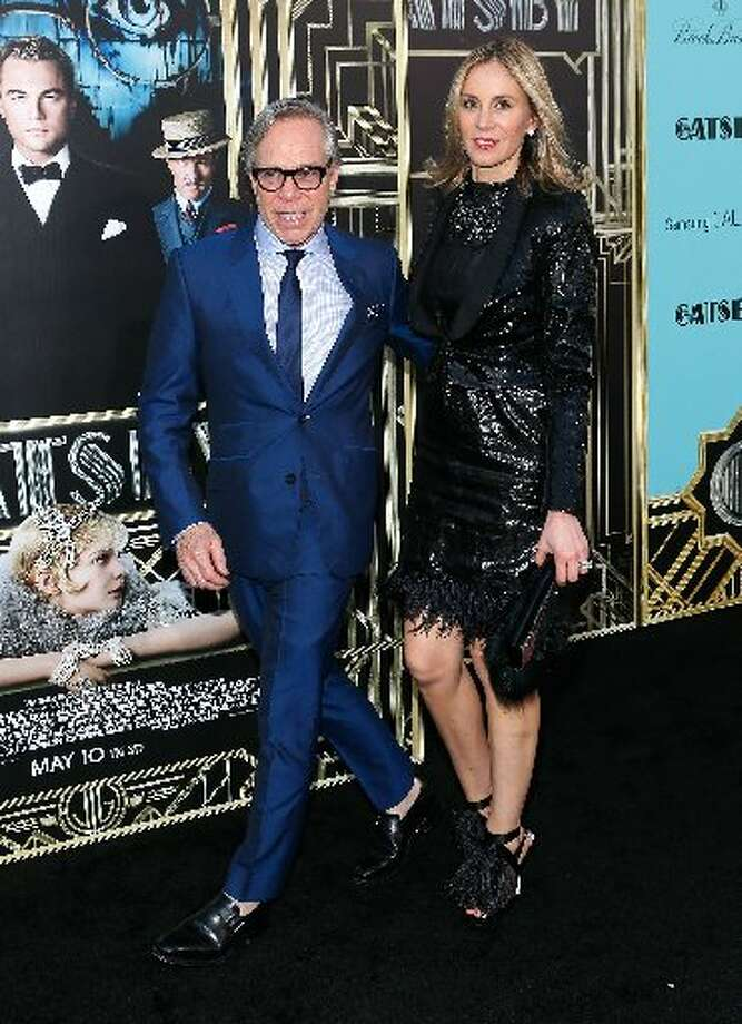 Fashion designer Tommy Hilfiger and his wife, Dee, at the premiere.