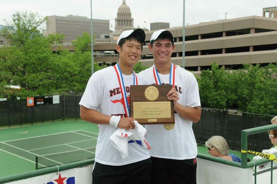 AGH Boys tennis players of the yearGrant Reichmann (right) and William Jou, Memorial Photo: Jerry Baker, Freelance