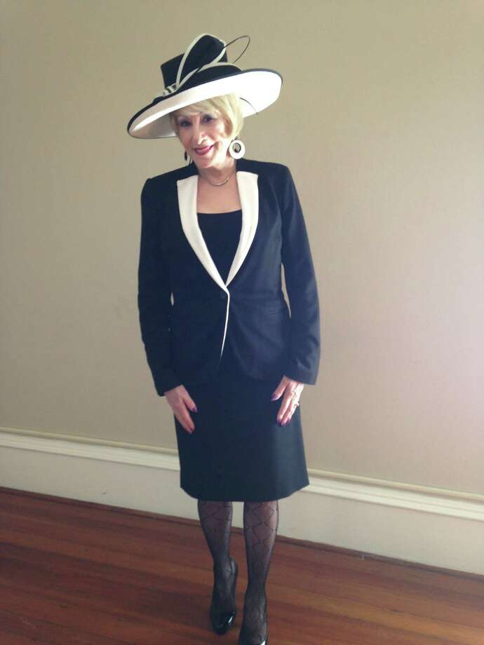 "Jean French shows us that San Antonio, indeed, is not without its stylish and sophisticated ""ladies who lunch."" French takes a hint from the season's all-powerful one-two color combo of black and white in a tailored jacket with color-blocked lapels over a scoop shell and skirt. Her matching hat with an impressive sweeping contrasting brim tops the look and her patterned hosiery gives it some edge. We want seconds! - Michael Quintanilla Photo: Michael Quintanilla / San Antonio Express-News"