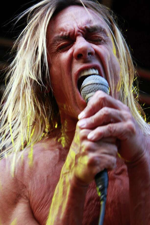 Musician Iggy Pop and The Stooges perform at Get Loaded in the Park at Clapham Common on August 24, 2008 in London. Photo: Stefan Jeremiah, Getty / 2008 Stefan Jeremiah