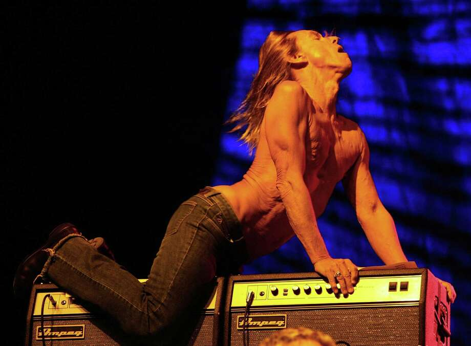 Iggy Pop of Iggy & The Stooges performs during the Vegoose music festival at Sam Boyd Stadium's Star Nursery Field October 27, 2007 in Las Vegas. Photo: Ethan Miller, Getty / 2007 Getty Images