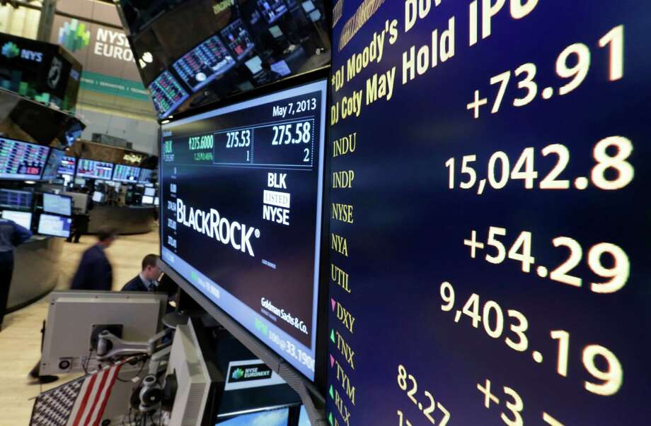 A board on a trading post on the floor of the New York Stock Exchange shows the Dow Jones industrial average with an intraday number above 15,000, Tuesday, May 7, 2013.  The U.S. stock market joined a global rally Tuesday, and the Dow Jones industrial average continued to flirt with the 15,000 mark. (AP Photo/Richard Drew) Photo: Richard Drew