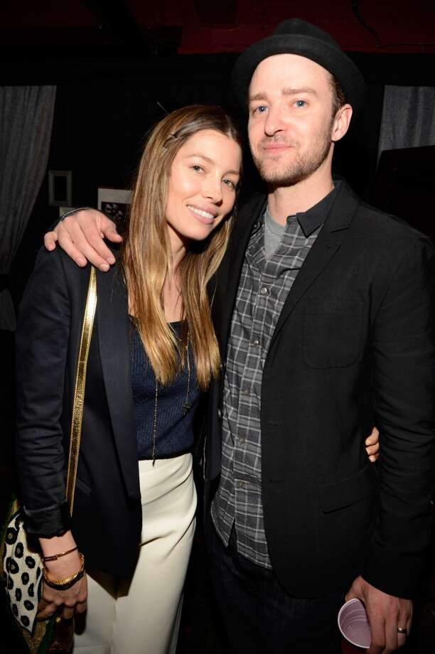 Jessica Biel and Justin Timberlake backstage after MasterCard Priceless Premieres presents Justin Timberlake at Roseland Ballroom on May 5, 2013 in New York City.  (Photo by Kevin Mazur/WireImage)