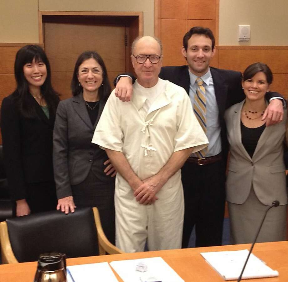 George Souliotes and his legal team (from left): Orrick Attorney Shannon Leong, Northern California Innocence Project Legal Director Linda Starr, George Souliotes, Orrick Attorney Jimmy McBirney and former Orrick Attorney Megan Crane Photo: Courtesy Souliotes Legal Team