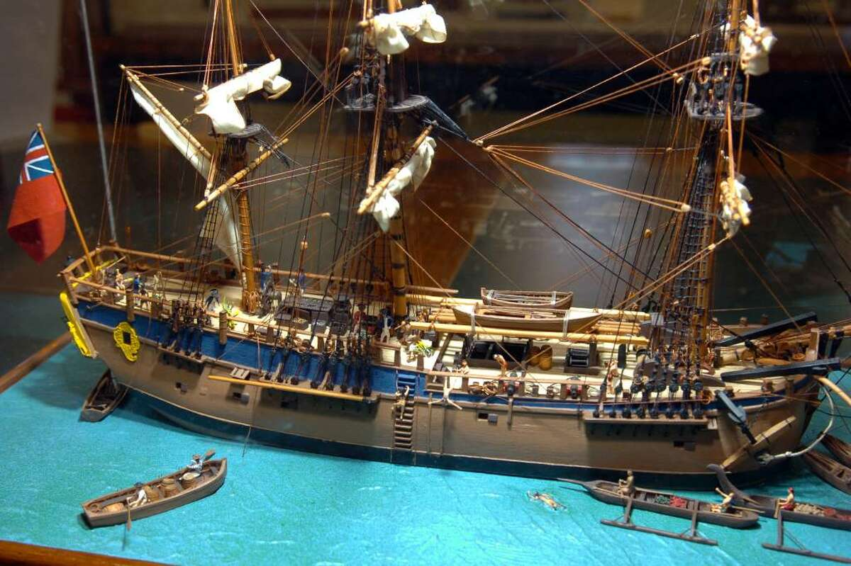 Over thirty hand-crafted ship and boat models built by Jim Wiser, of Fairfield, are on display at the Pequot Library, in the Southport, Conn. thru the end of January.