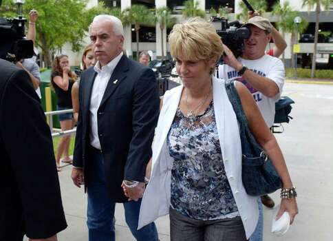 George Anthony, left, and Cindy Anthony, parents of Casey Anthony, arrive at the Orange County Courthouse for Casey Anthony's sentencing in Orlando, Fla., Thursday, July 7, 2011.  Anthony was acquitted of murder charges.   (AP Photo/Phelan M. Ebenhack) Photo: Phelan M. Ebenhack