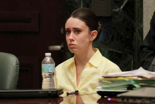 Casey Anthony looks on after the rebuttal testimony is over, ending the presentation of evidence in her murder trial at the Orange County Courthouse in Orlando, Fla., Friday, July 1, 2011. Casey Anthony, 25, is charged with killing her daughter Caylee in the summer of 2008. (AP Photo/Red Huber, Pool) Photo: Red Huber