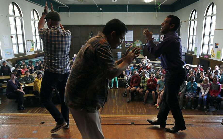 The Ka-Hon Ensemble performs for and teaches students at an AIM concert at Alvarado Elementary School in S.F. Photo: Paul Chinn, The Chronicle