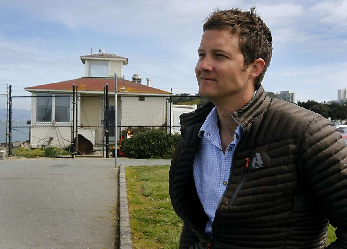 Restaurateur Dylan MacNiven visits the old Naval magnetic range house on the Marina Green in San Francisco, Calif. on Tuesday, March 26, 2013. MacNiven hopes to open one of his Woodhouse Fish Co. restaurants at the site but the plans have met with opposition from nearby residents.