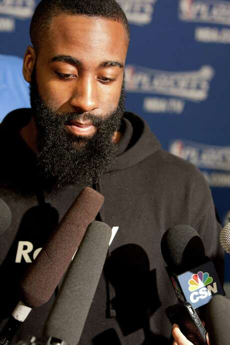 James Harden cites post game, 3-point shot and finishing around the rim as things he wants to work on this summer. Photo: Johnny Hanson, Staff / © 2013  Houston Chronicle