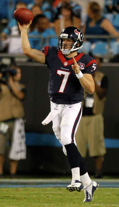 Case Keenum saw action for the Texans in the 2012 preseason but did not get into a regular-season game. Photo: Brett Coomer, Staff / © 2012  Houston Chronicle