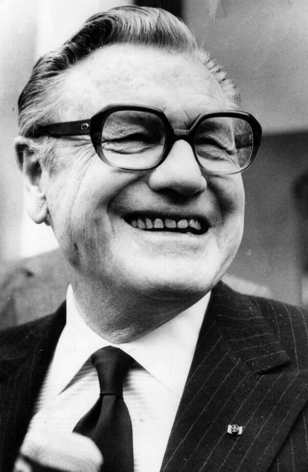 New York Gov. Nelson Rockefeller had rocky presidential campaigns after his messy divorce and remarriage.  Years later, ex-Vice President Rockefeller died in the company of a young researcher, as it were, with his boots on. Photo: Central Press, Getty Images / Hulton Archive