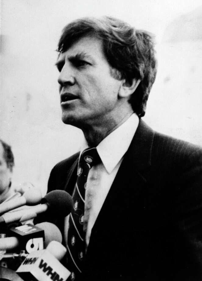 "Gary Hart was frontrunner for the 1987 Democratic nomination, until caught in an apparent tryst, with the revelation that he and a young Miami woman spent the night on yacht called the ""Monkey Business."" Photo: Keystone, Getty Images / Hulton Archive"